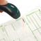 Registratie van barcode met barcode 128 scanner - Barrier Container Seal RSS (sticker) - containerzegel zegel